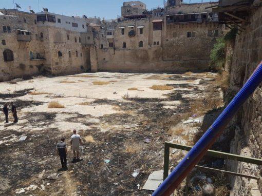 שיקום בריכת חזקיהו – העיר העתיקה ירושלים