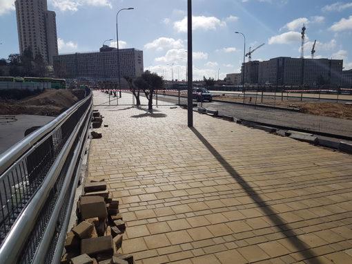 גשר בן דור, רכבת קלה ירושלים